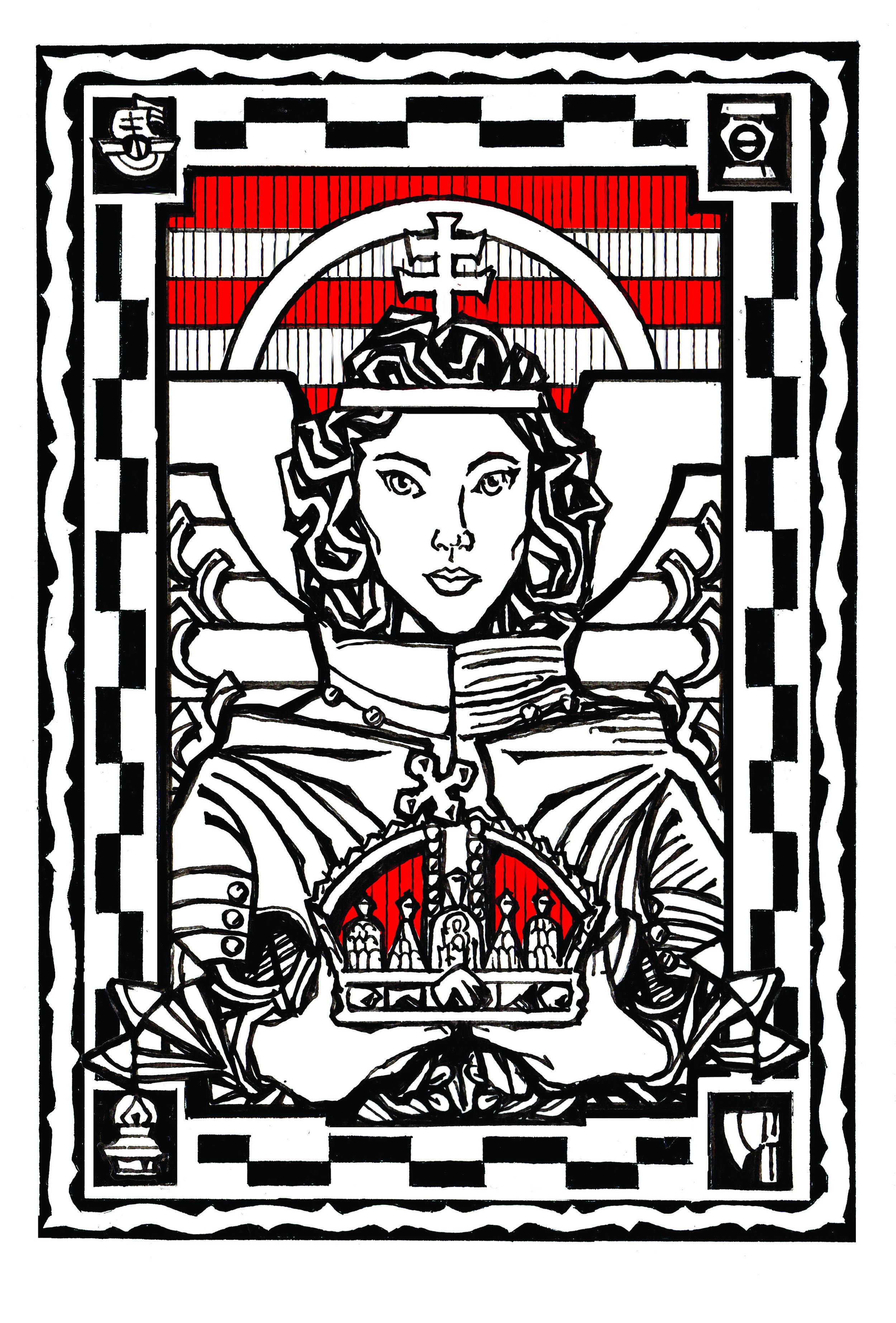 Angel Bearing Hungary's Holy Crown of Saint Stephen