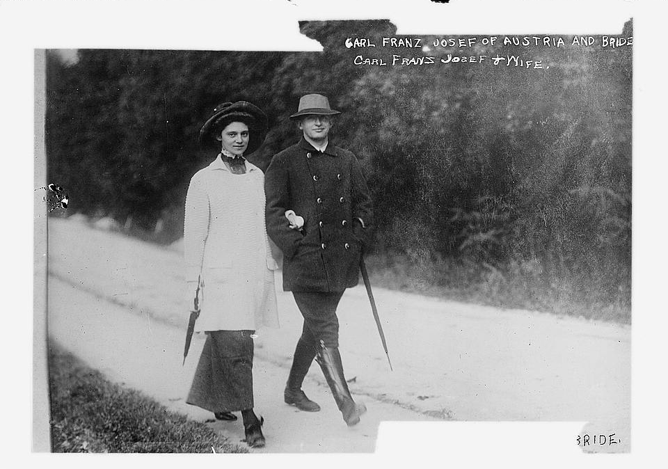 Karl and his wife Zita taking a walk (courtesy of Library of Congress)  Despite his noble family background, Karl was a simple man who enjoyed living an ordinary life with his family.