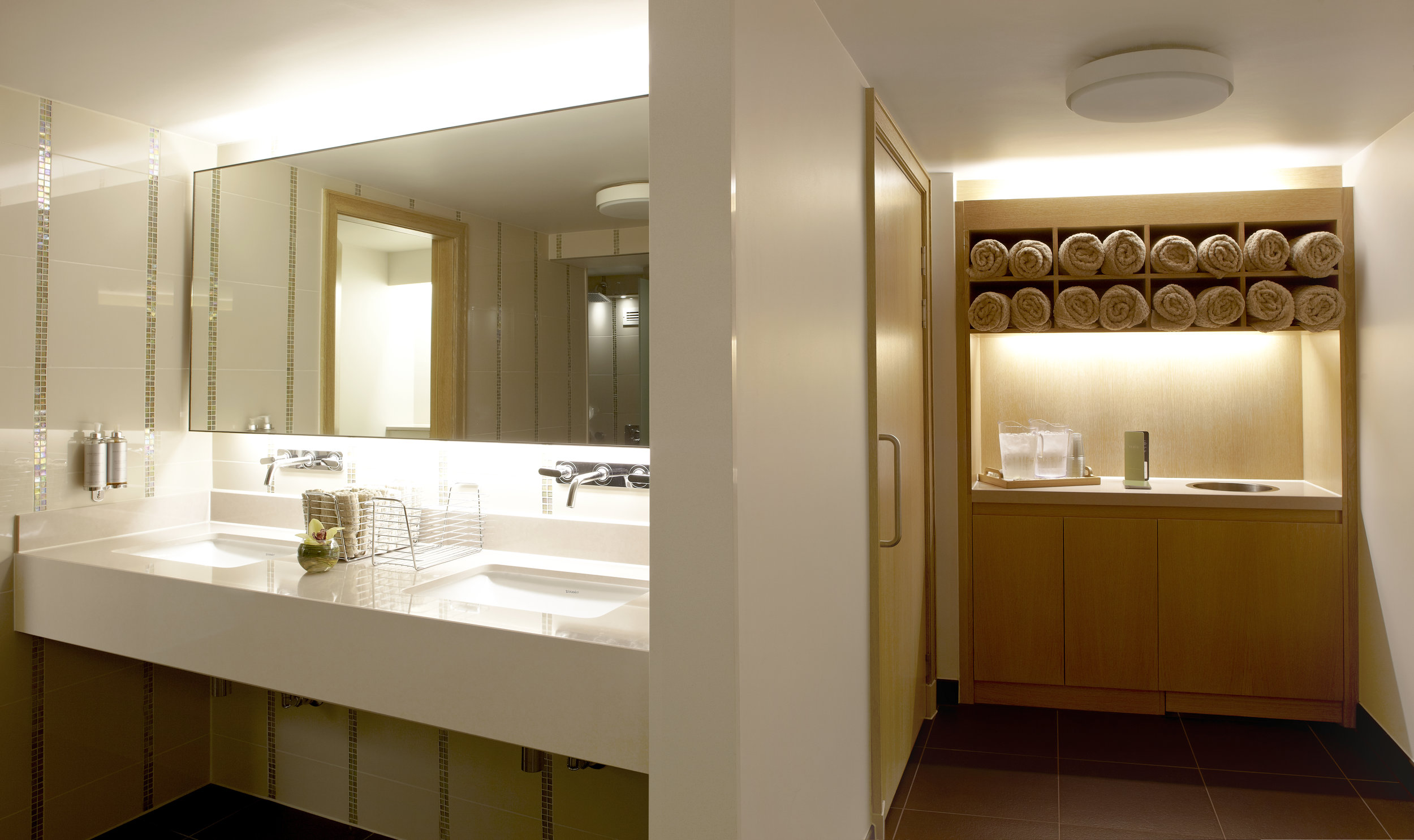 changing facilities with luxury amenities