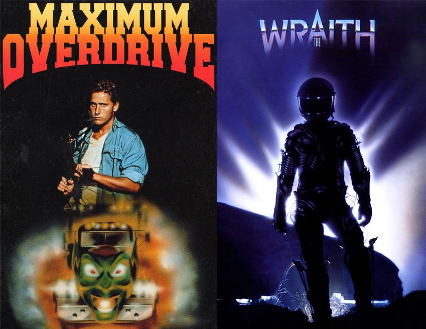 Emilio Estevez in Maximum Overdrive Charlie Sheen in The Wraith