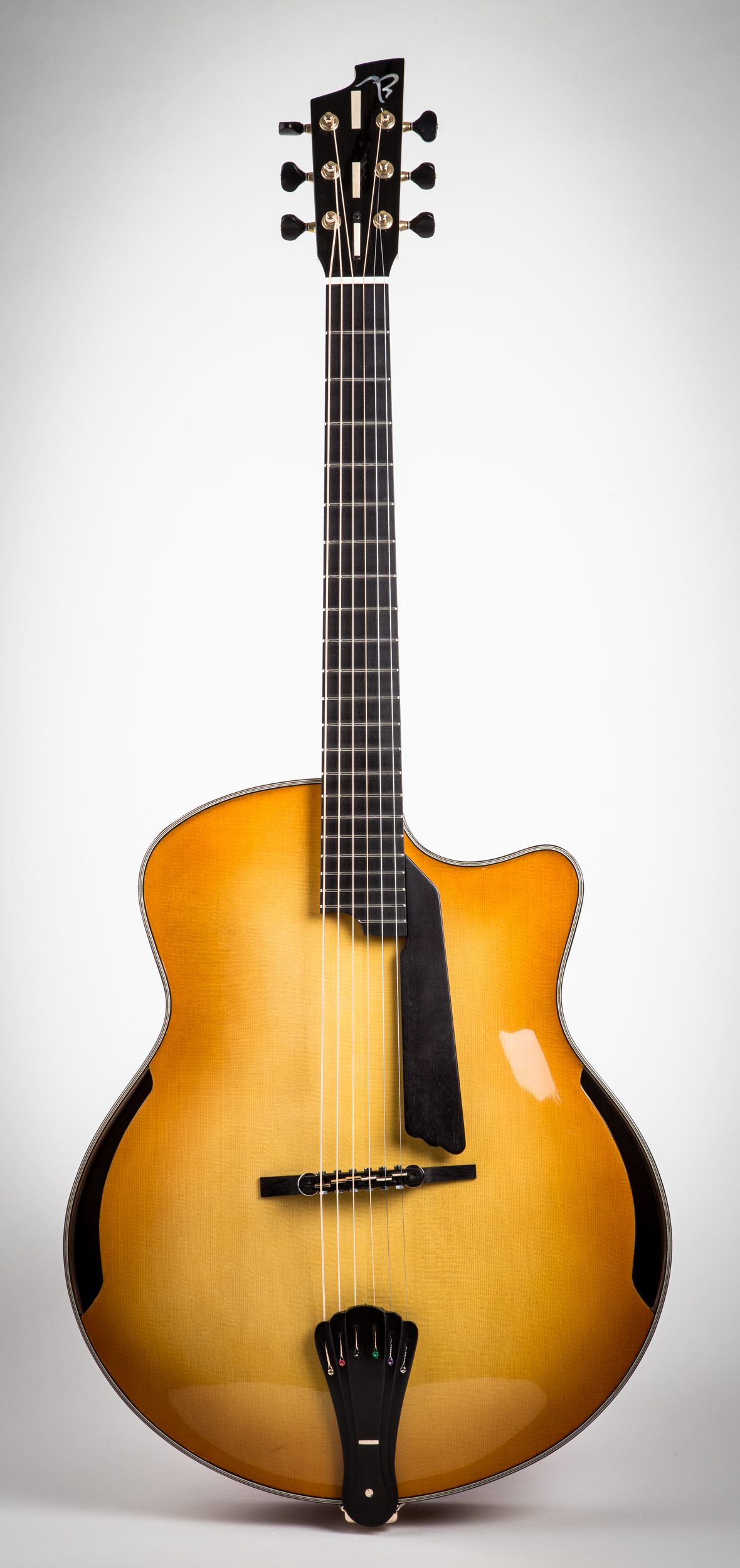 7A Arch-top Acoustic w/side-ports and art-deco bridge
