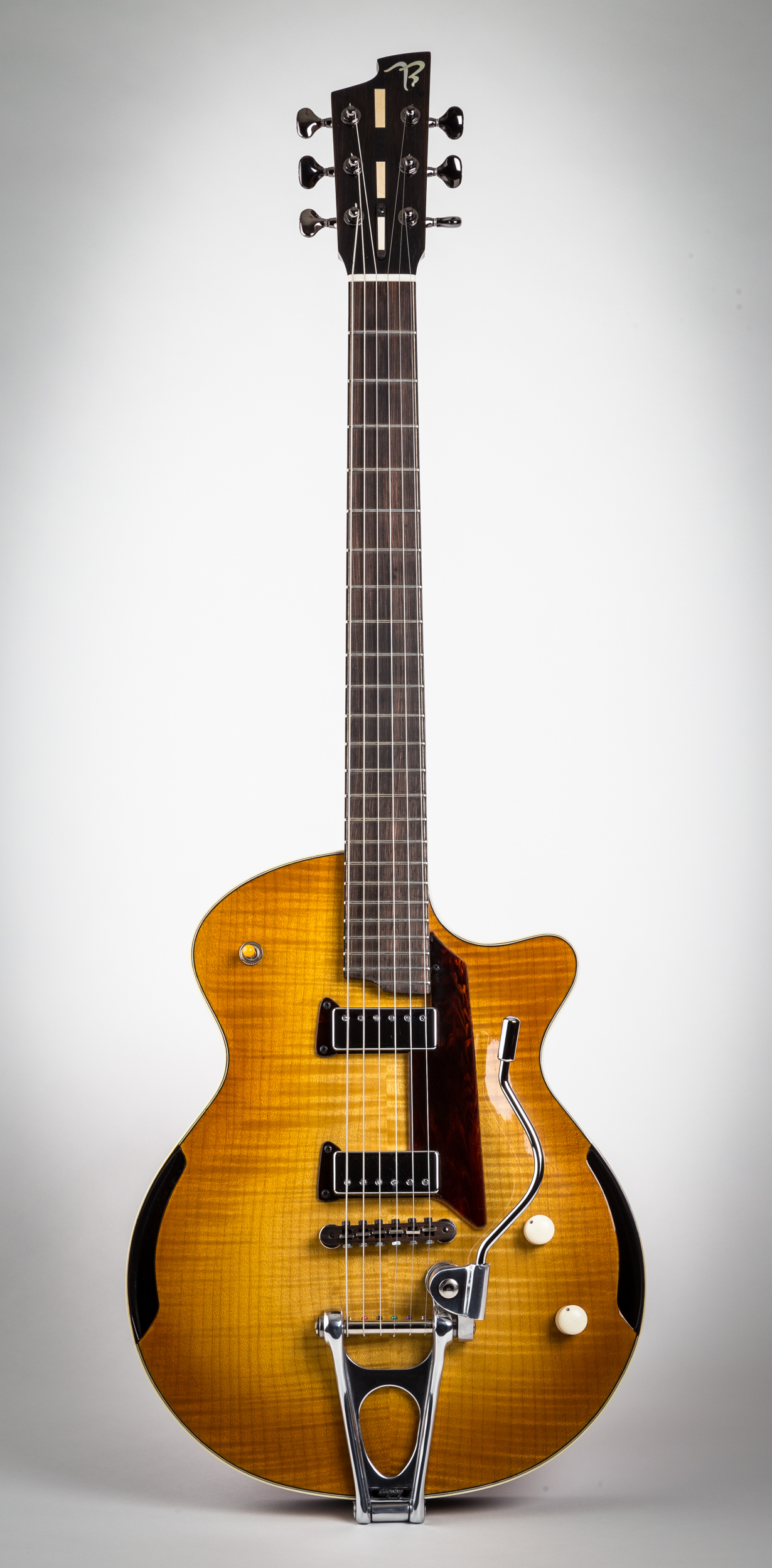 7E Arch-top Electric in flamed maple avec whammy-bar
