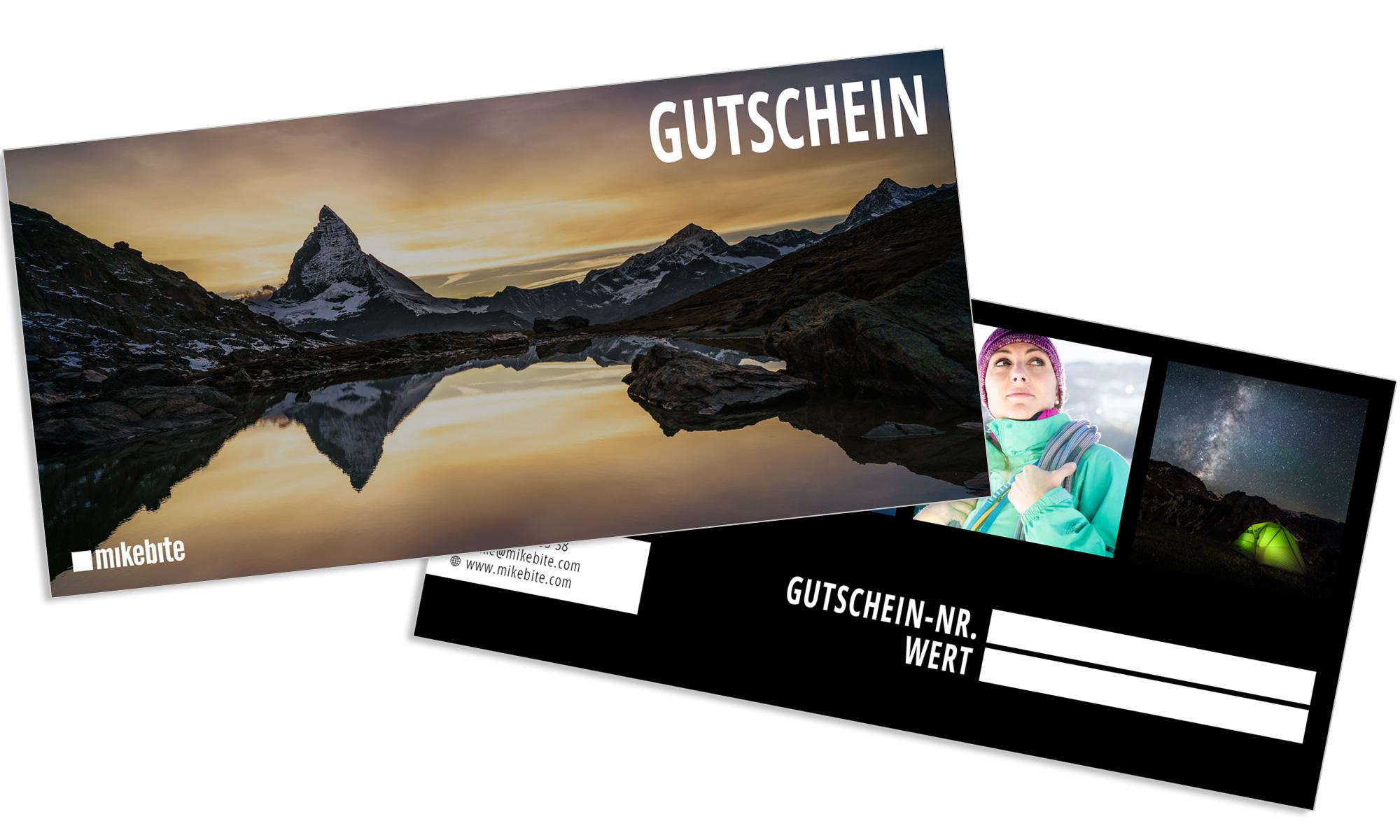 Geschenk Gutschein für Fotokurs und Fotoshooting