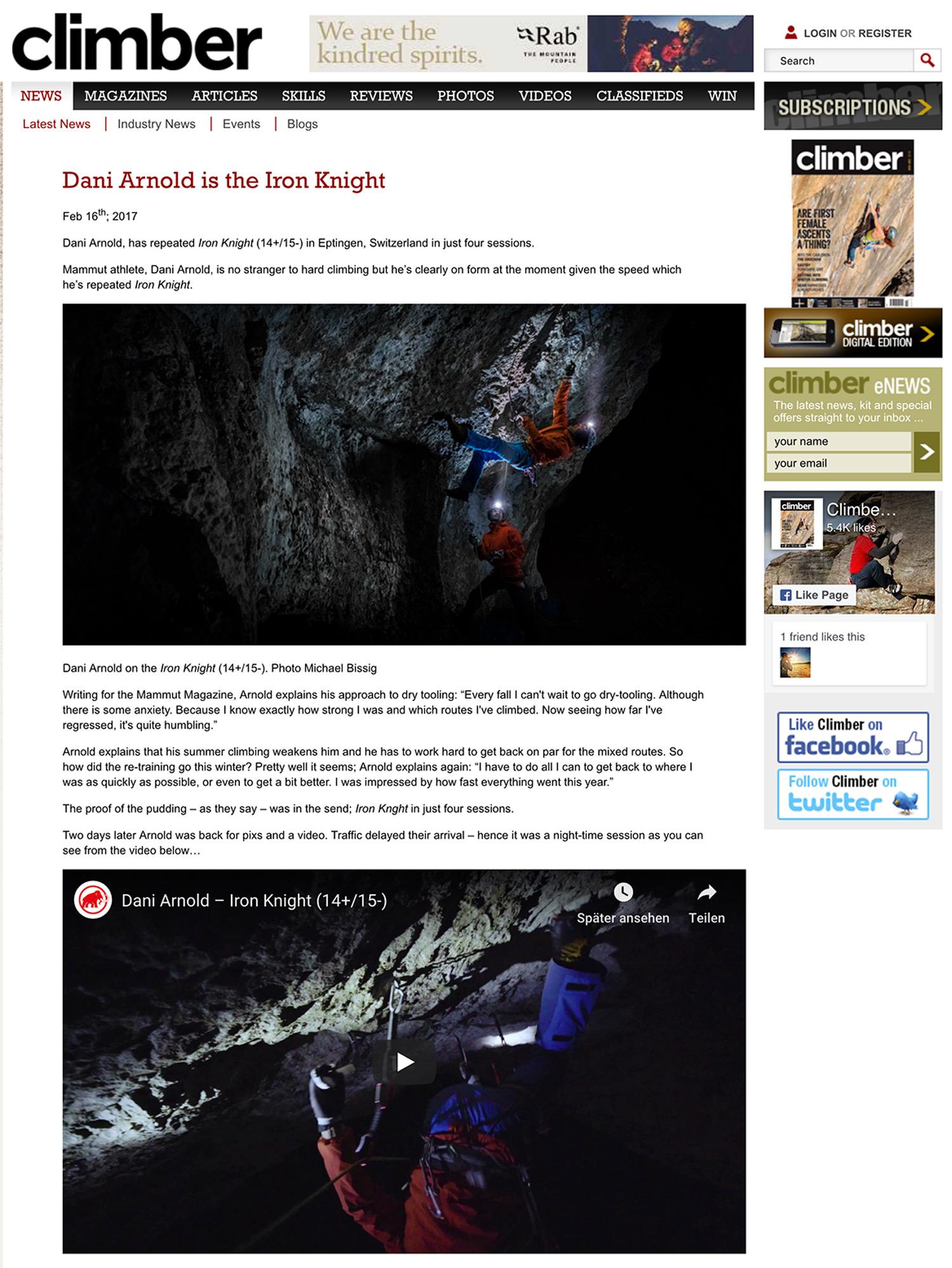 Michael Bissig - Magazin climber