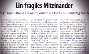 KULTUR-JOURNAL Landeszeitung, Dezember 2009, Text: Andreas Schwabe