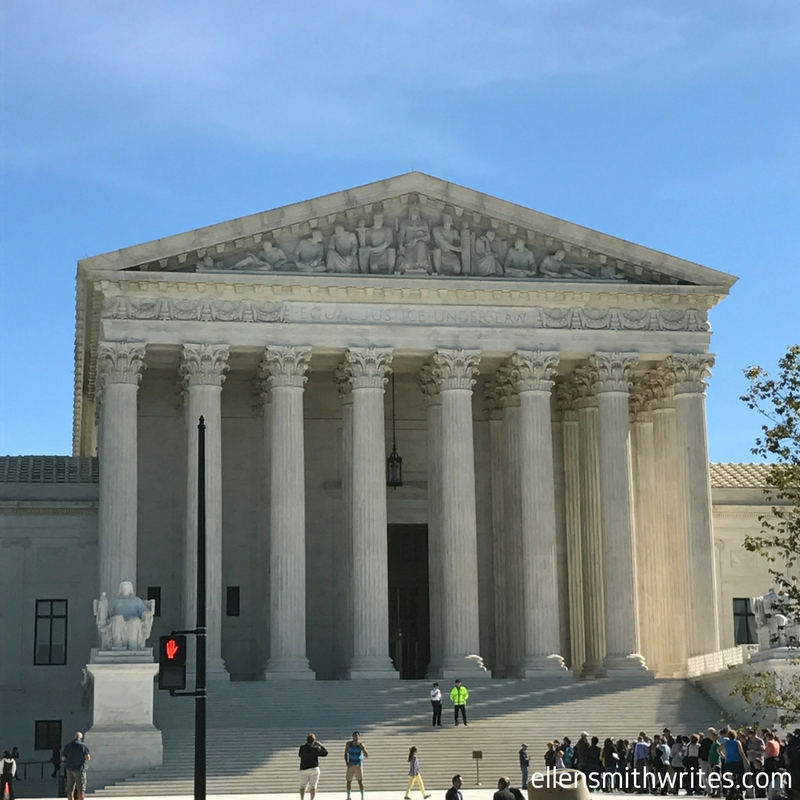 View of the Supreme Court from across First Street. See how long the line outside is? That's not even half of it!