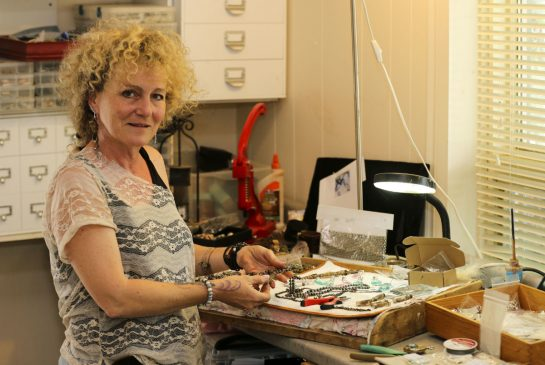 Catie Raymond designs original steampunk jewelry; Photo by Cody Storm, for The Toronto Star
