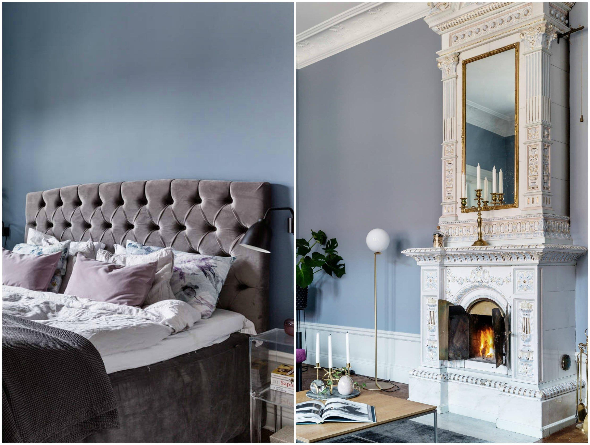 sofia cm interior blog blue color swedish homes apartment style scandinavian bedding