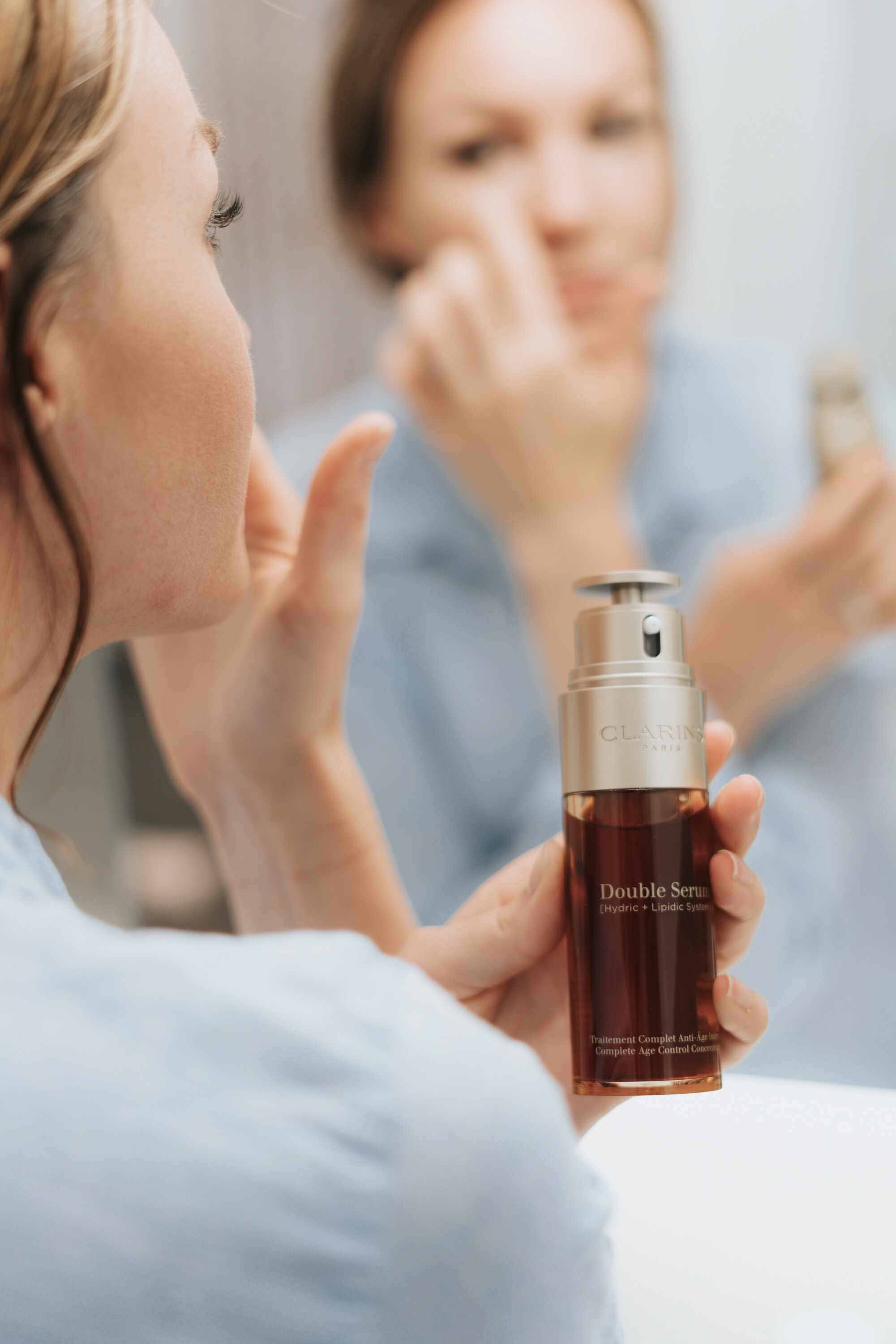 Clarins Double Serum is magical on dry skin.