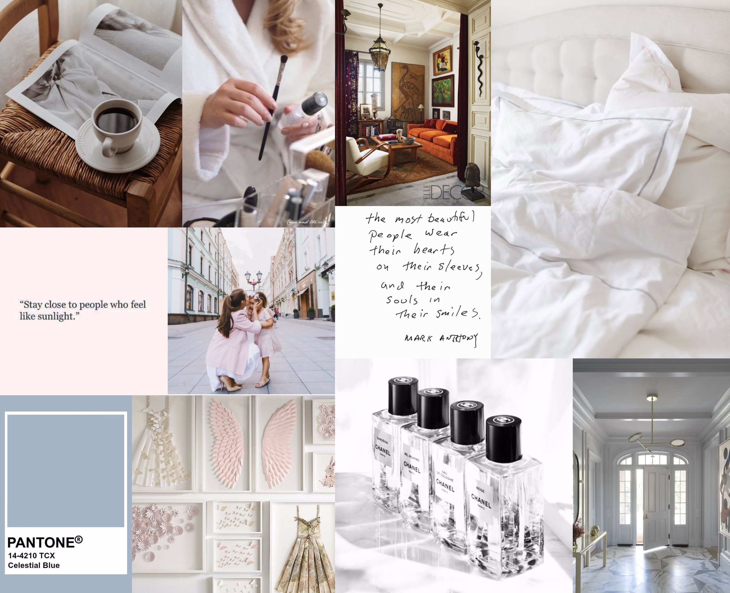Some parts of my vision board right now, there is just so much going on and there are so many goals to achieve!