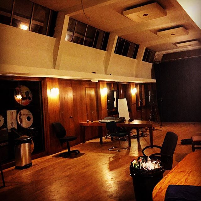 Eerie rehearsal space in south London. #magic #studio @bazaarmusic