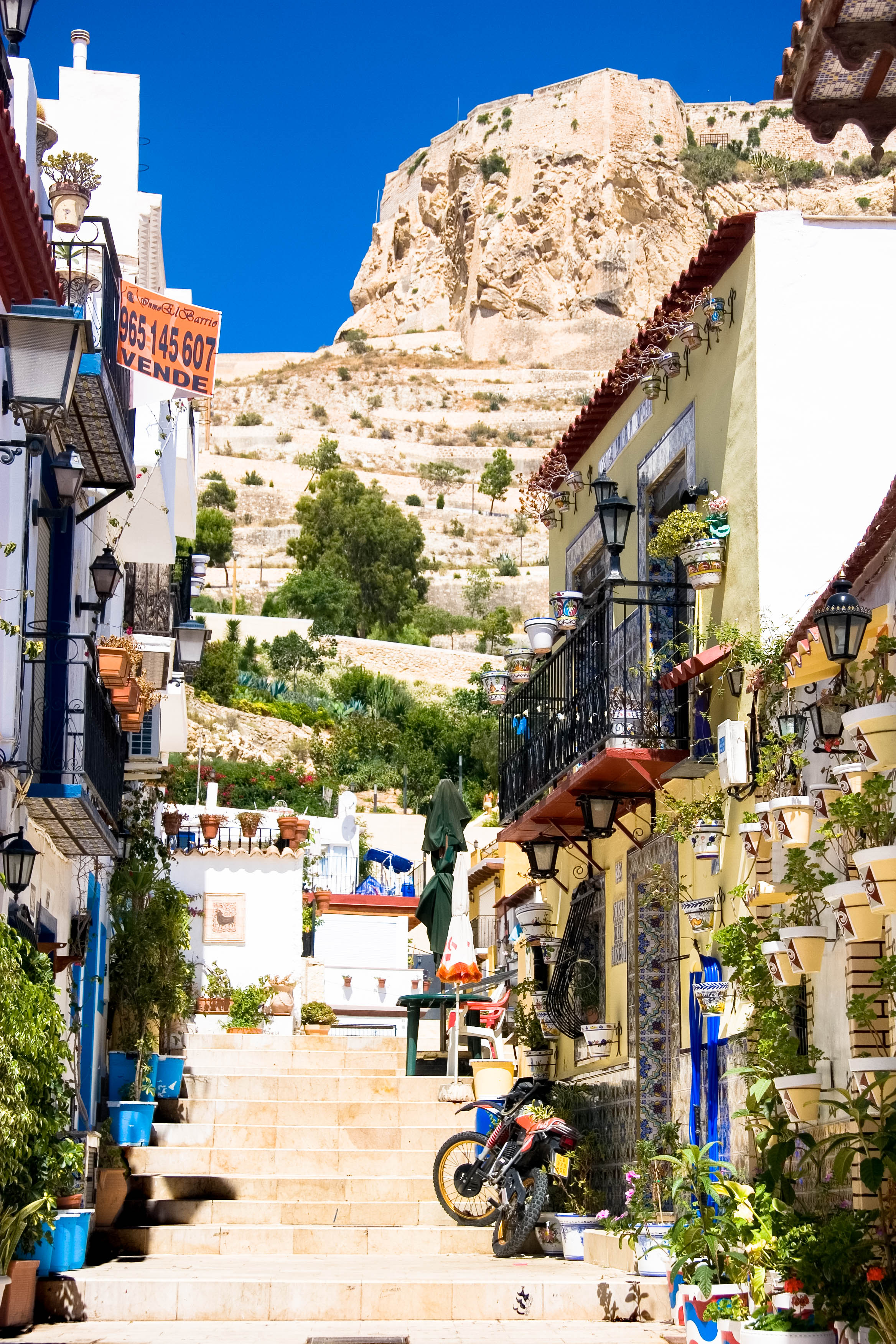 View of the fort. Alicante, Spain
