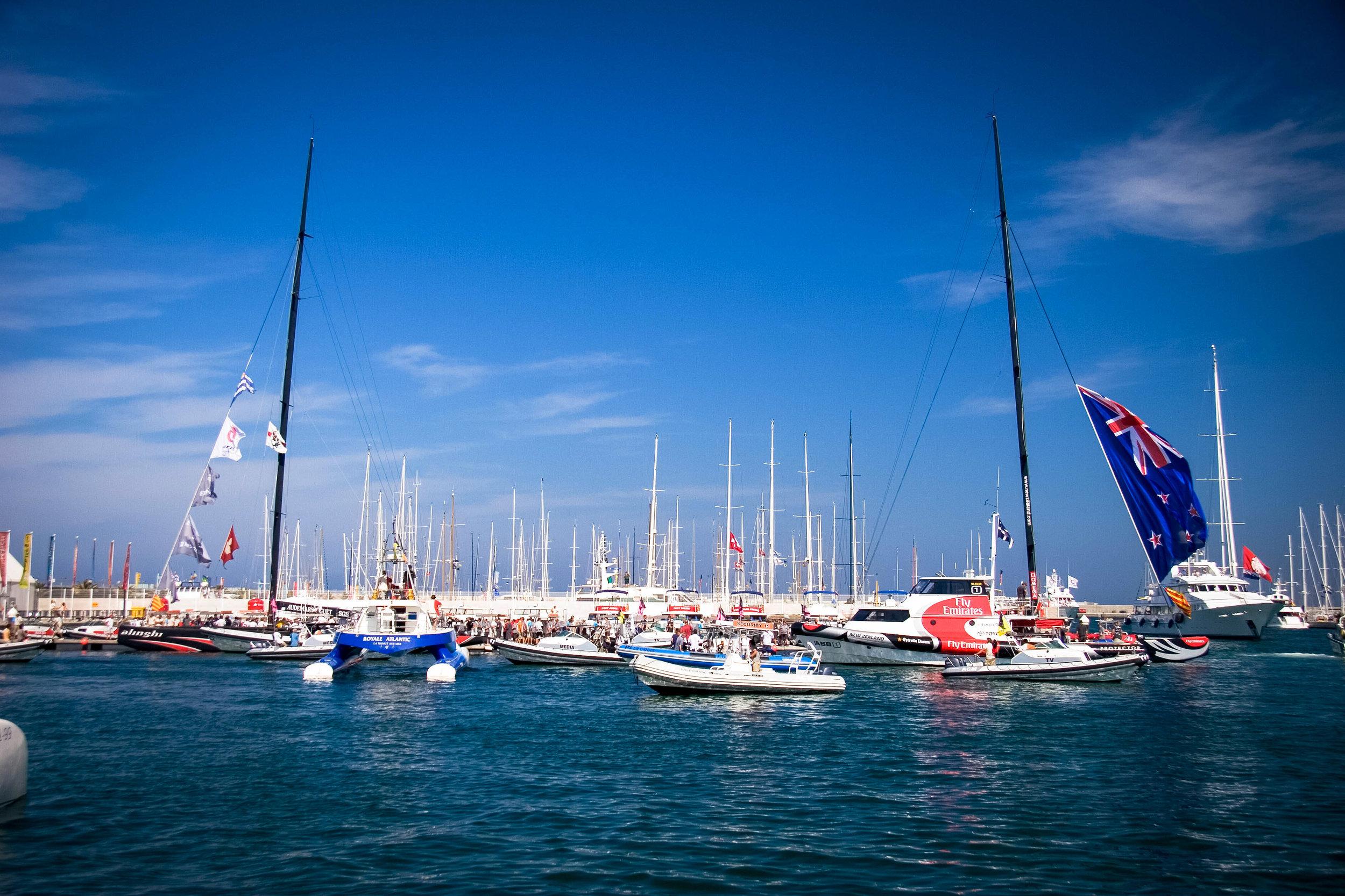 Racing boats, Valencia Harbour, Valencia