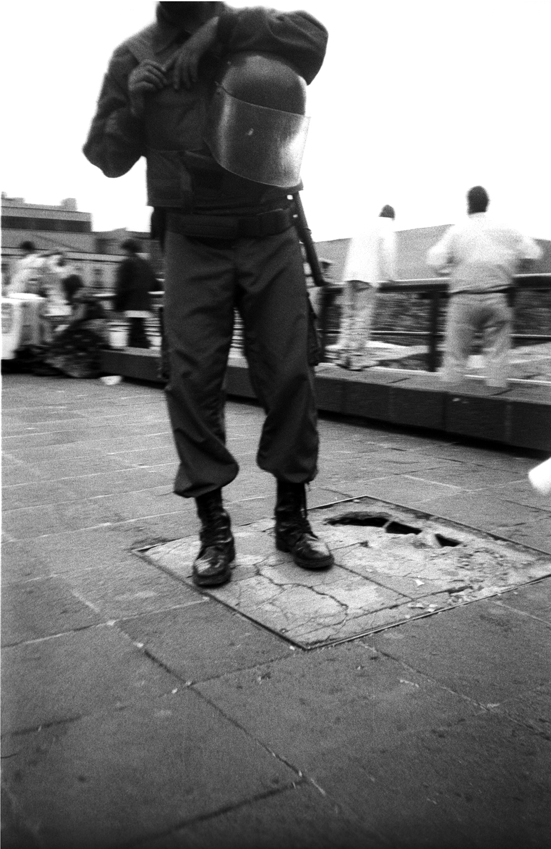 Mexico D.F.  Guardia Civil, Zocaló