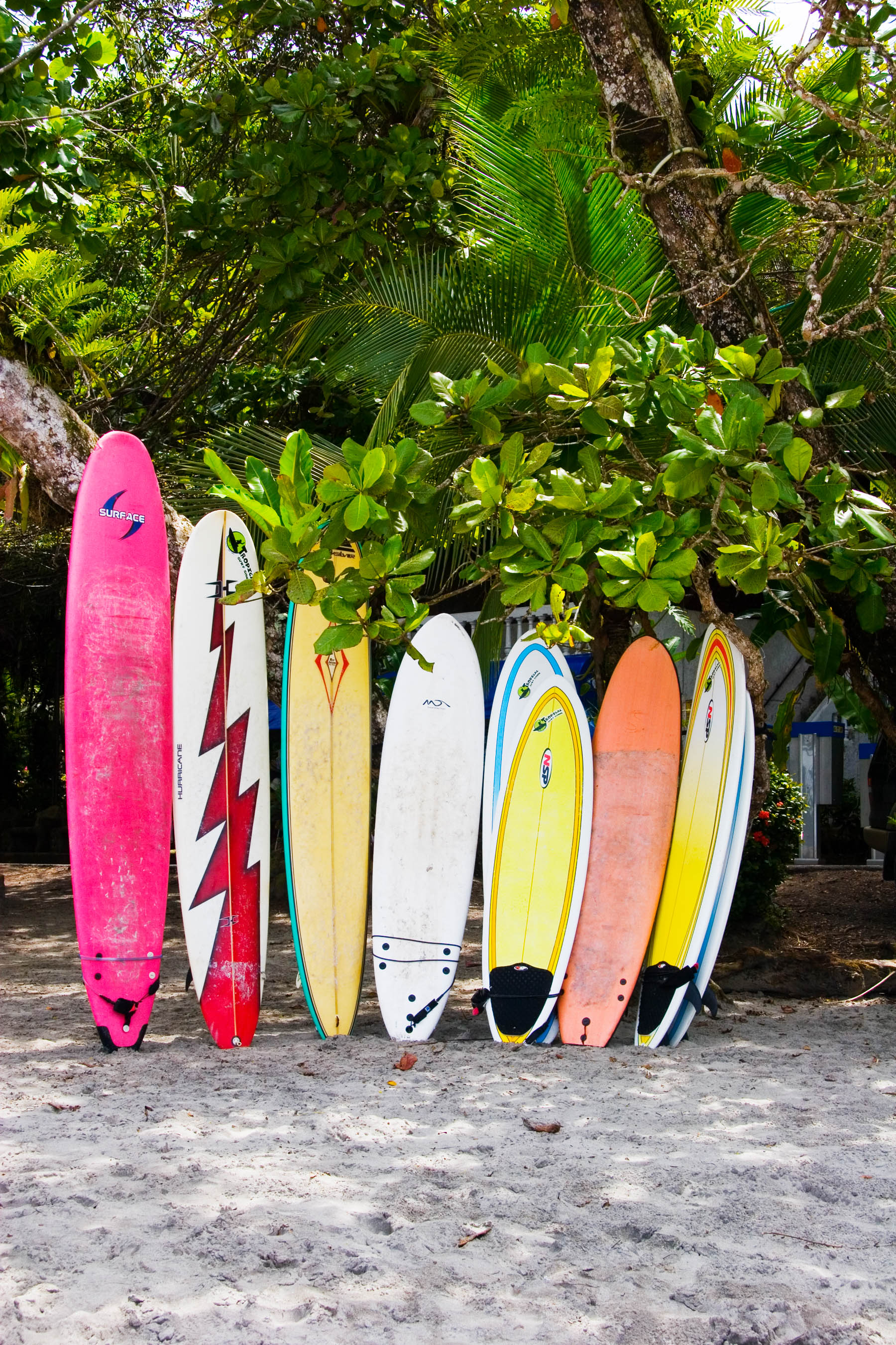Surfboards for sale, Parque Manuel Antonio