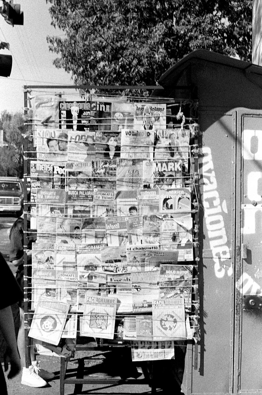 Mexico D.F.  Newspaper Kiosko