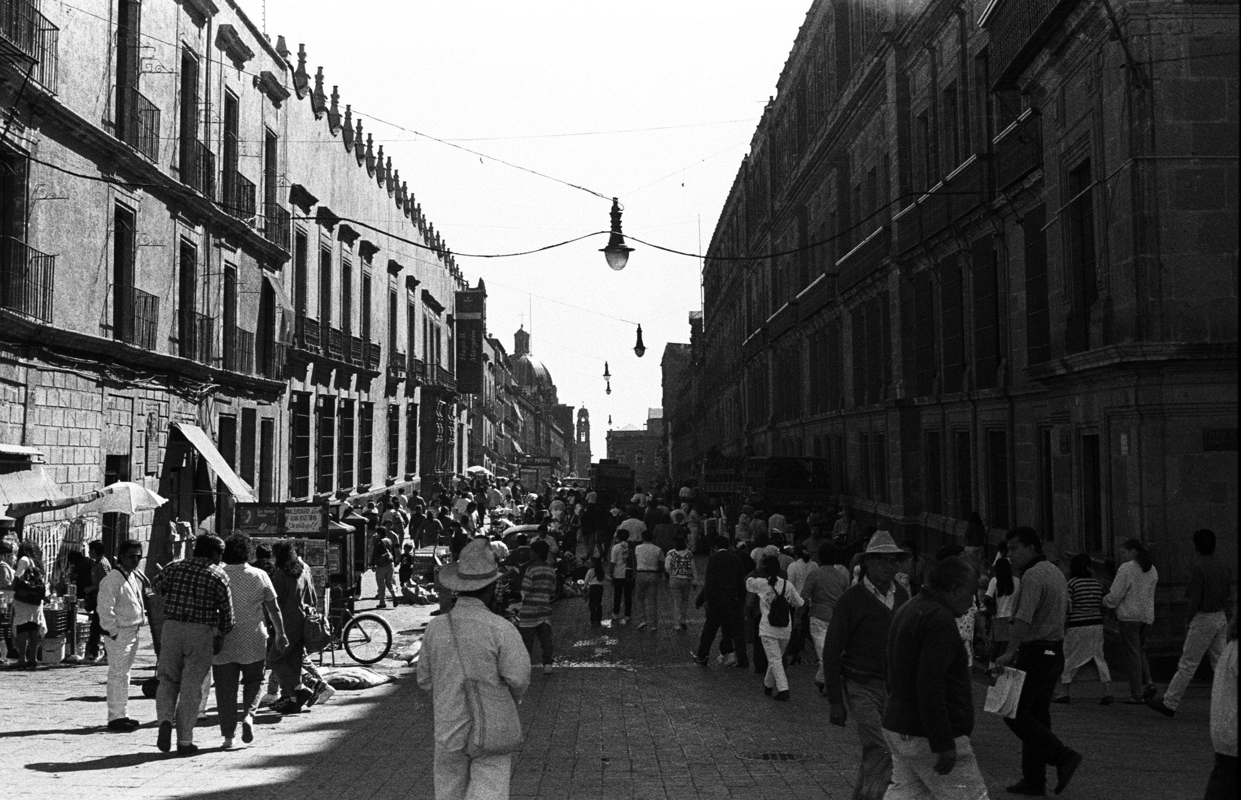 Mexico D.F.  Street Scene, Zocaló