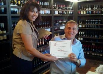 Alessia Botturi (NASA President) & Max Stefanelli (Terroni Restaurant)