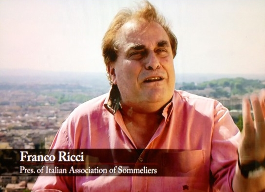 Above, Franco Ricci (...now Worldwide Sommelier Association, President) interviewed in the movie SOMM.