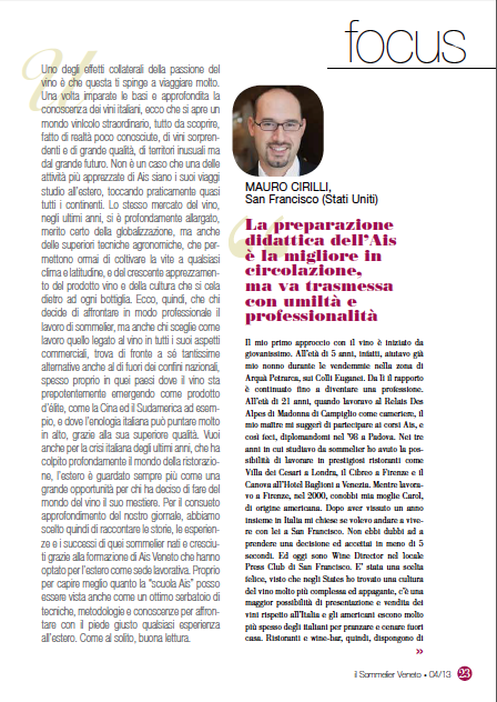 The interview is in Italian (click image below). Can be translated with google.