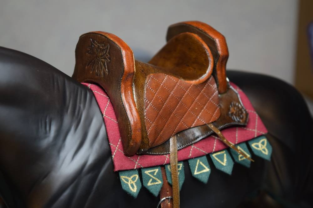Laine Lovstoan: This saddle is based on a video game, Witcher 3. It turned out brilliantly!