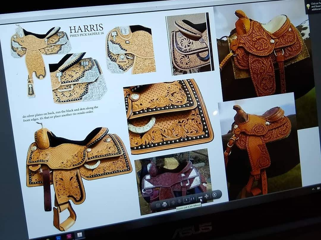 References gathered - mix of real saddles and Stablemate scale
