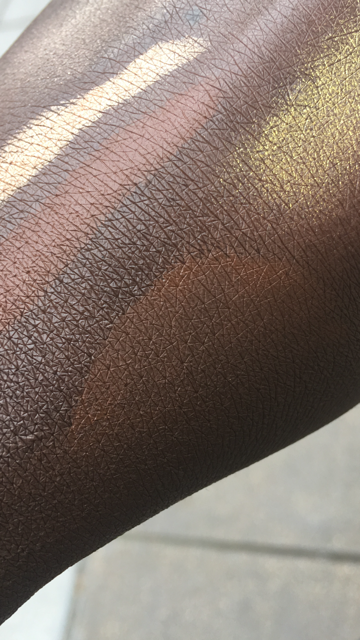 The top swatch is the Espresso Skin Stick, in the middle is the shade of my skin on my hand, and below is 490 after the swatches at on my hand for about an hour. Again, the difference isn't huge but when it's on my face I find it very noticeable.