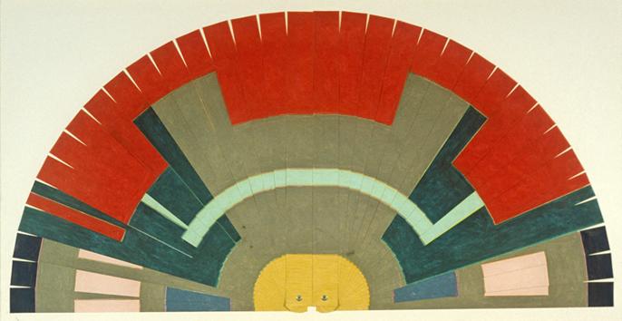 Ando's Fan,  23x46, 1978