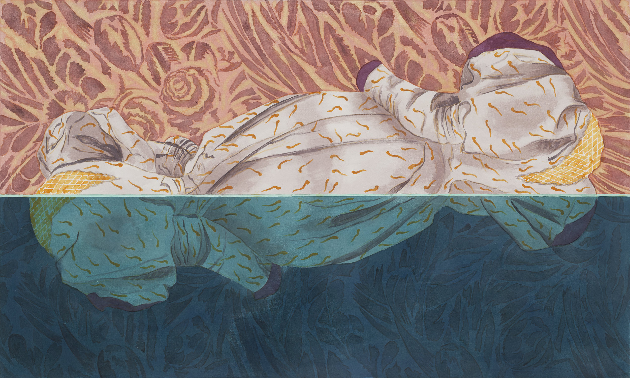 """Barely Afloat , 36"""" x 60"""", 2018"""