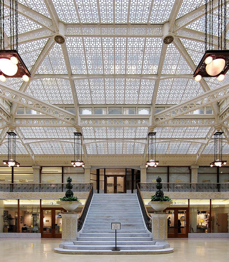 Light court in lobby of the Rookery Building