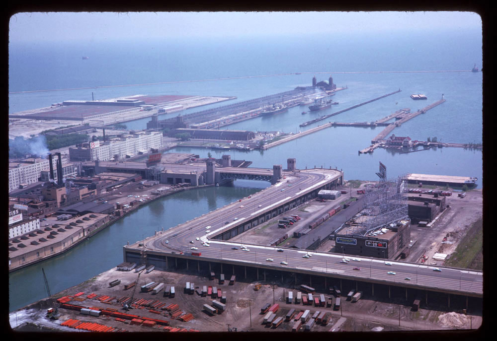 View of Navy Pier, 1963.