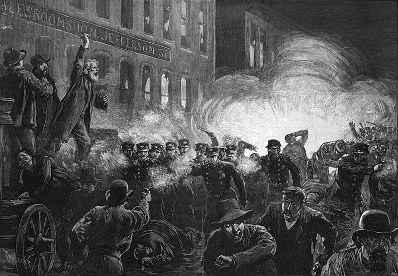 Harper's Weekly Illustration of Haymarket Square violence