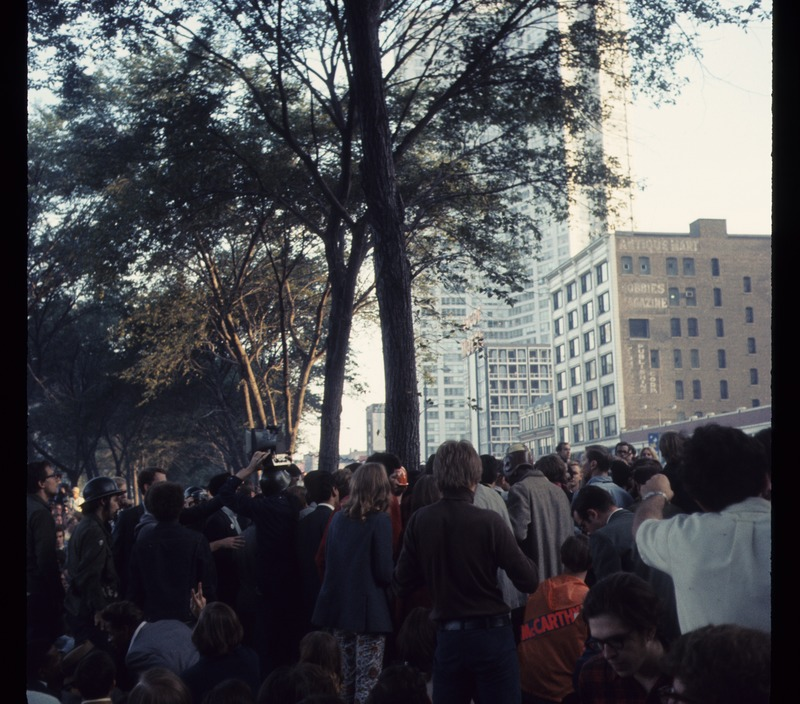 Vietnam War protest in Grant Park 1968