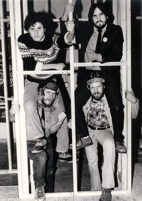 The Practical Theatre Company, 1980. Kroeger is at the top left.