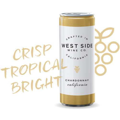 100% Chardonnay, this refreshing California wine boasts tropical fruits with a spritz on the palate and a crisp finish that's perfect for sipping poolside, post-yoga class or at a concert! Enjoy chilled.