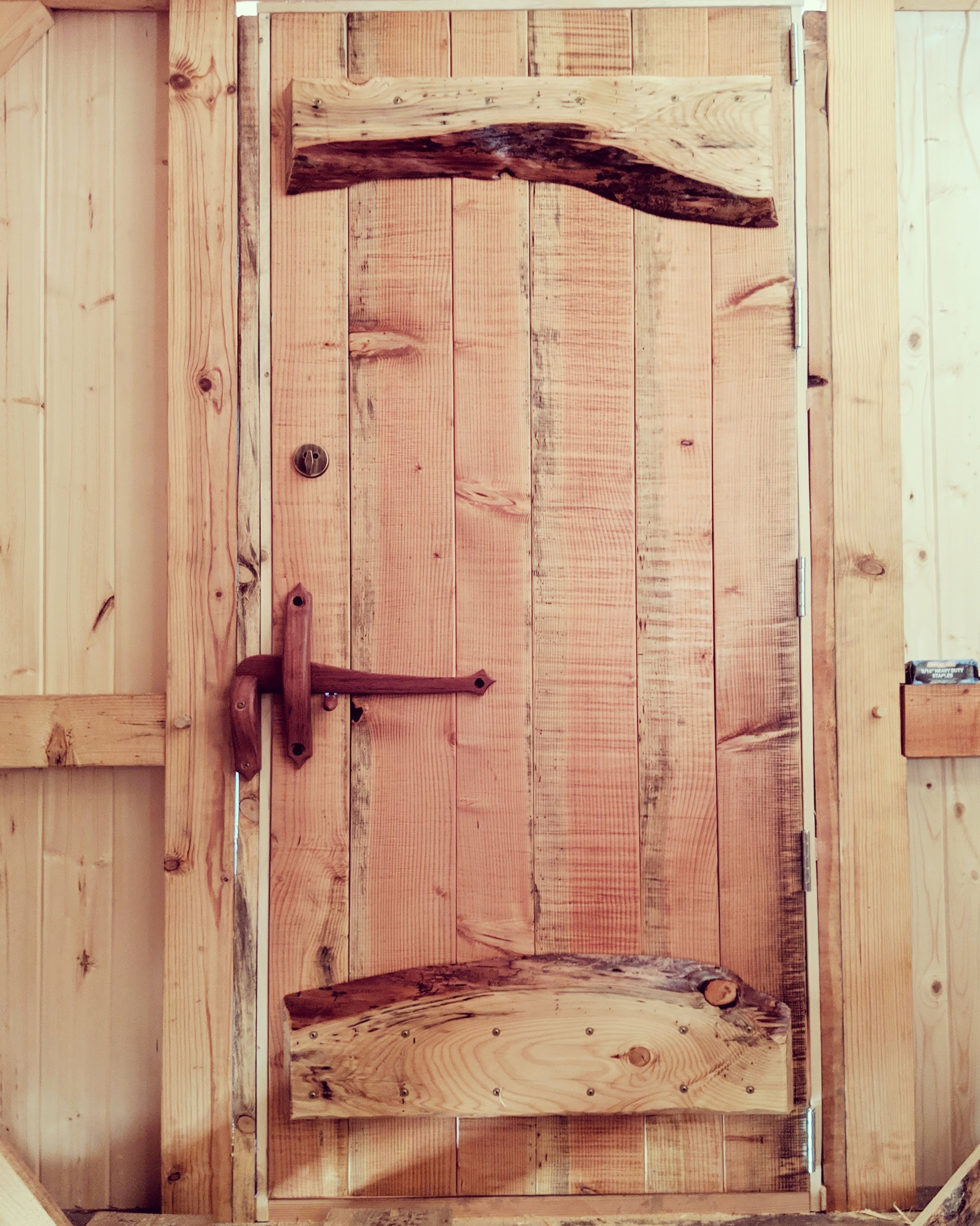 Tongue and groove Z-frame door