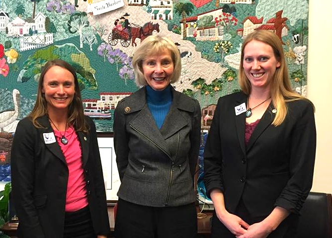 Heather and me with our Congressional Representative, Lois Capps.
