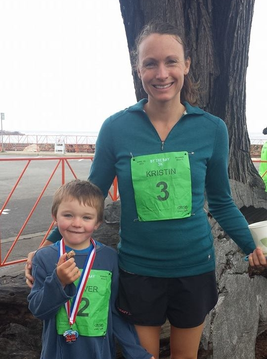 Oliver and me after a two-mile race!
