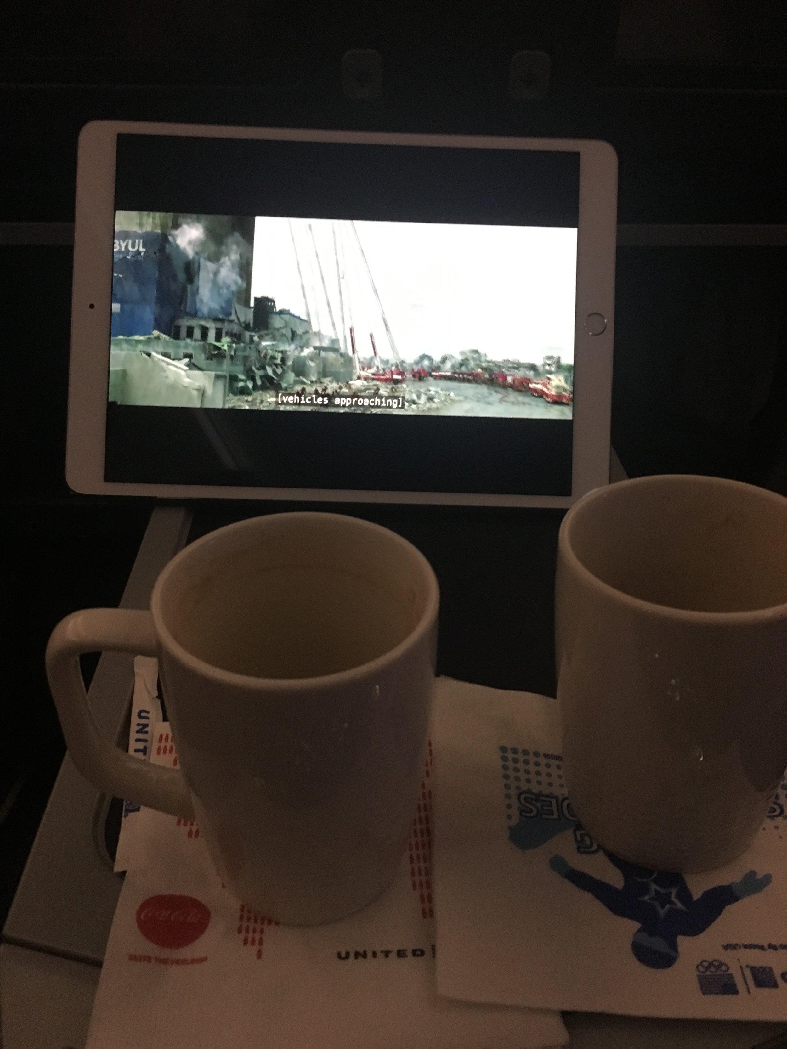 "Watching ""Pandora"" on the plane"