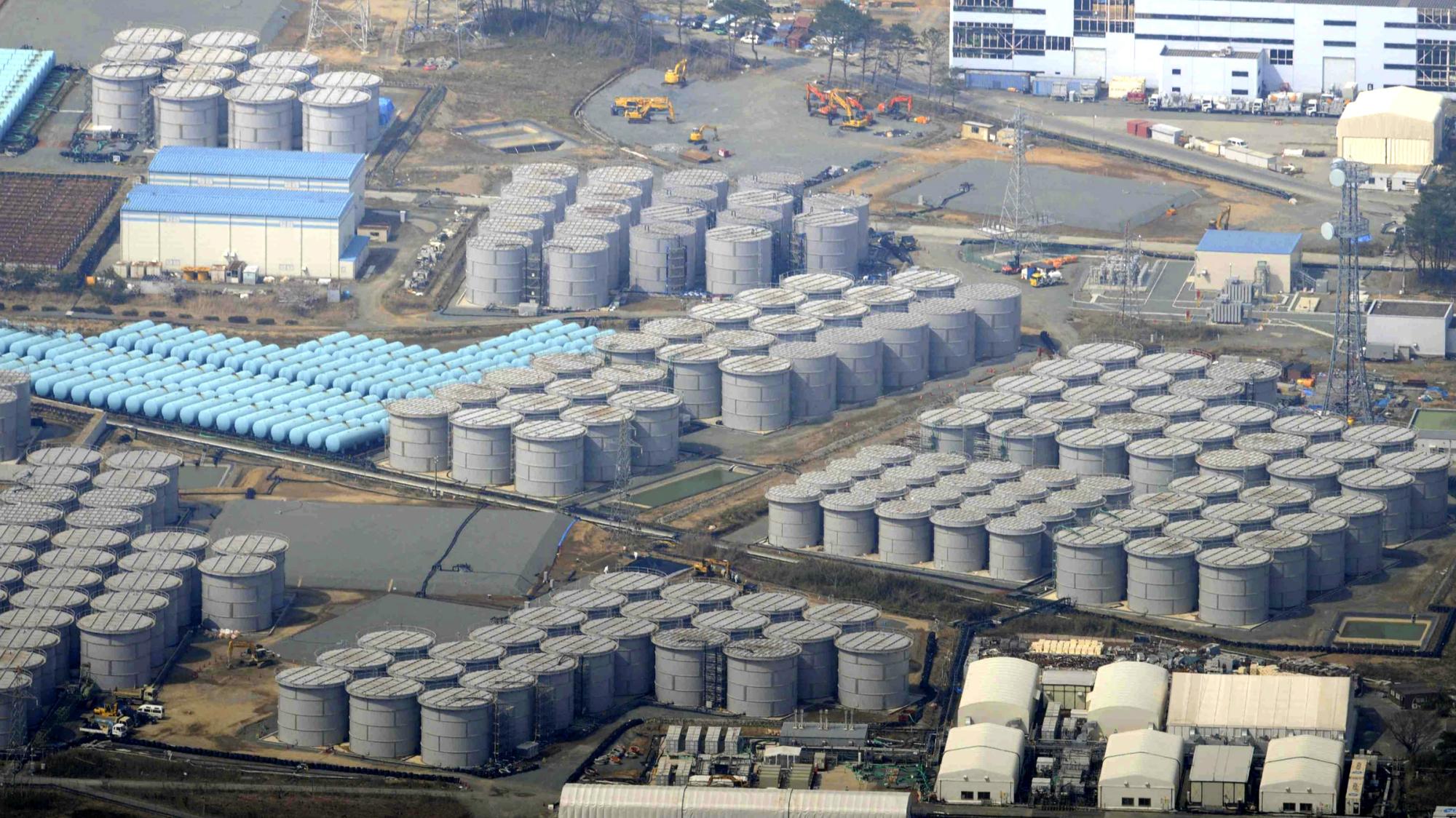 Tanks at Fukushima Dai-Ichi (Japan Daily Press, 2017)