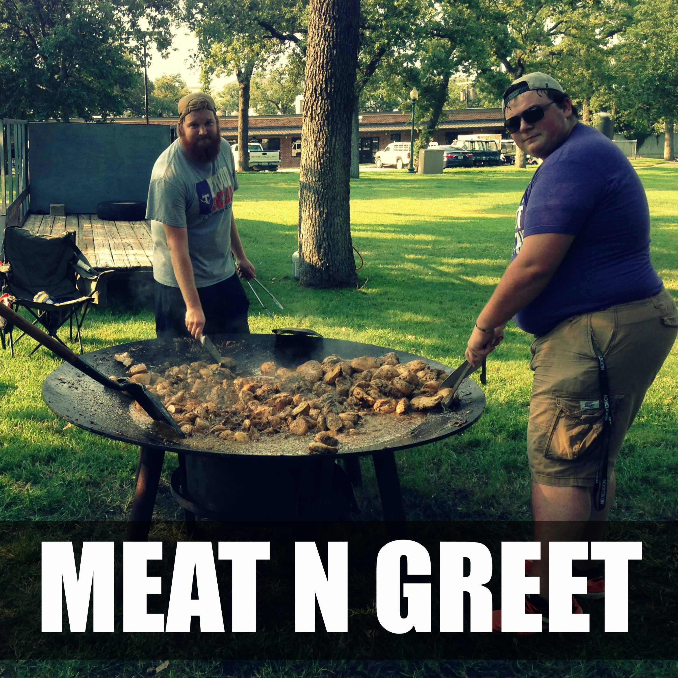 MEAT N GREET   THURSDAY AT 7PM IN HERITAGE PARK   100s of pounds of meat! Come join us for a meat buffet as we celebrate the kick off of 402! Eat well, hang out, play giant yard games, and relax. Be sure to join us for the 402 Worship Encounter at 8pm at the BSM immediately following Meat N Greet!