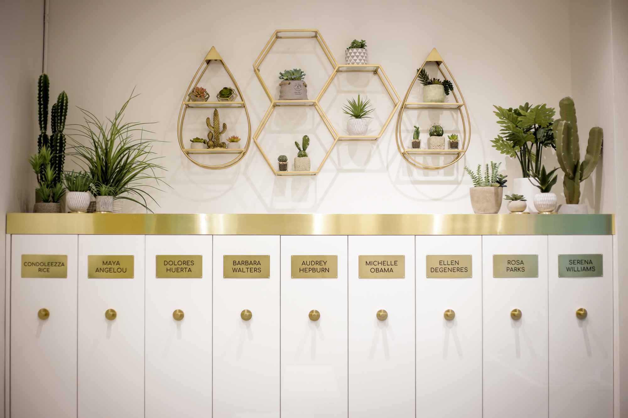 Our iconic loop lockers named after inspiring women