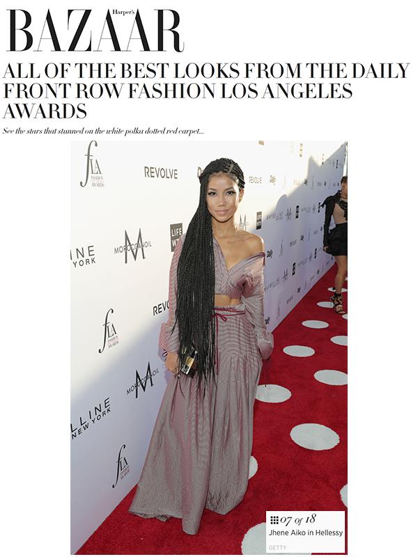 Jhene Aiko featured in Harper's Bazaar wearing Resort 17 Look 4