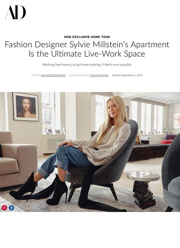 Sylvie Millstein featured in Architectural Digest