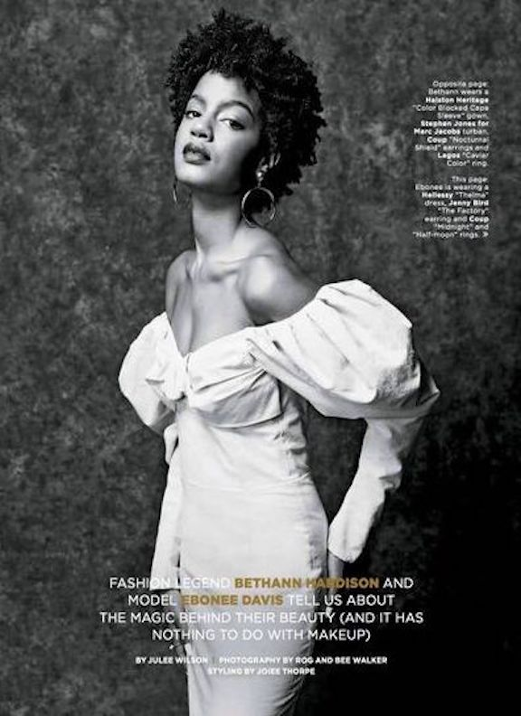 Ebonee Davis wearing the SS18 Thelma in Essence Magazine