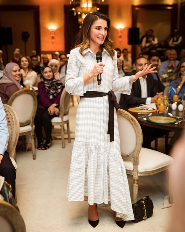 Queen Rania wearing the SS18 Harley dress