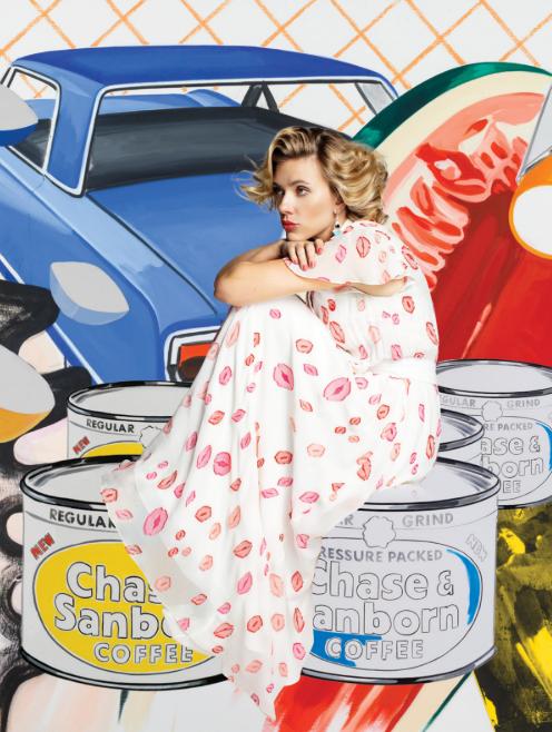 Scarlett Johansson featured in As If Magazine wearing the S19 Carmen dress