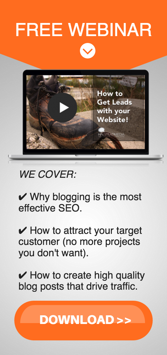 Webinar about how to get more leads from your website, builders, roofers, and landscapers