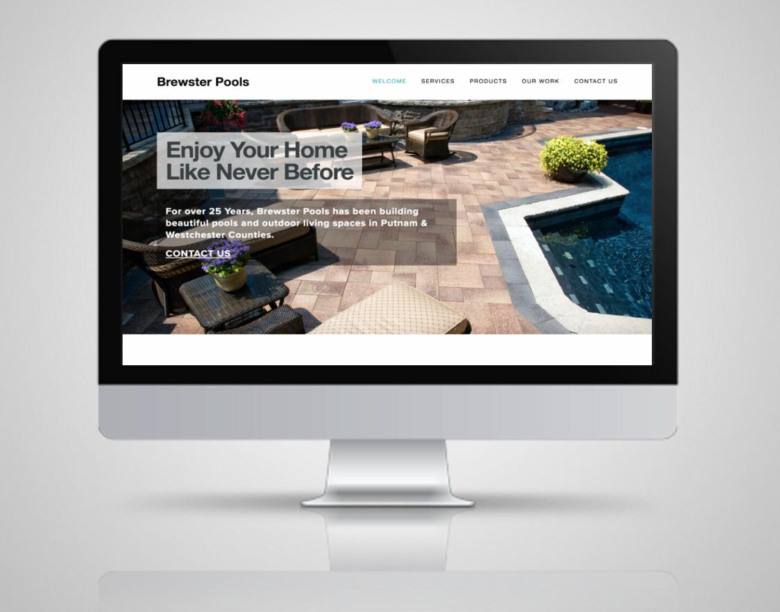 AFTER:  NY Pool Builder gets a new, responsive website design.