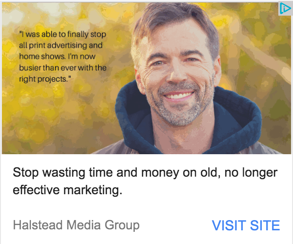 Example of a Google Adwords display ad by Halstead Media Group.